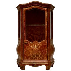 Miniature Cabinet with Gilt Embossed Leather