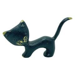 Miniature Cat Figurine by Walter Bosse, circa 1950s