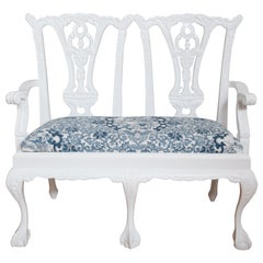 Miniature Chinese Chippendale Style Settee