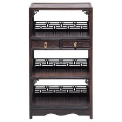 Miniature Chinese Hardwood Bookcase