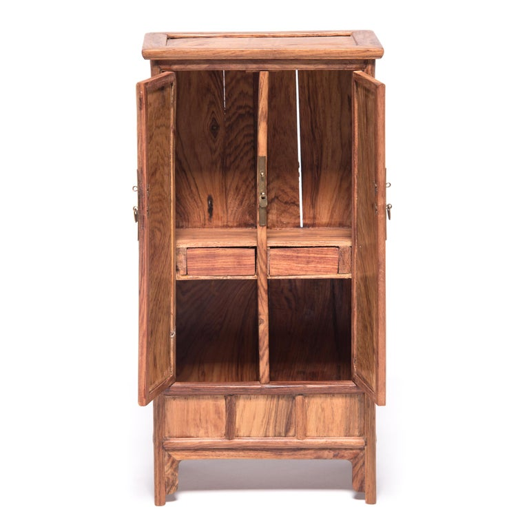 Hardwood Miniature Chinese Noodle Cabinet For Sale