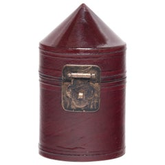 Miniature Chinese Red Lacquer Hat Box, circa 1850
