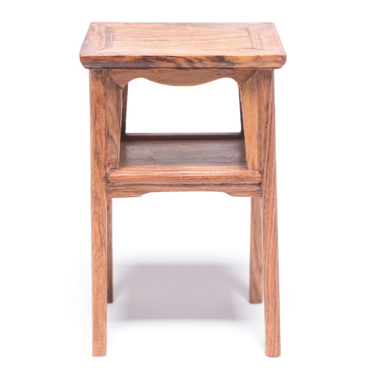 Miniature Chinese Square Side Table In Good Condition For Sale In Chicago, IL