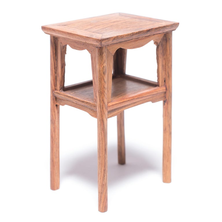Contemporary Miniature Chinese Square Side Table For Sale