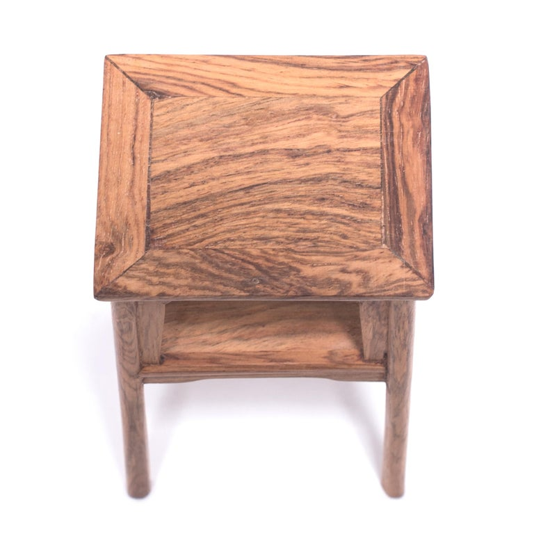 Hardwood Miniature Chinese Square Side Table For Sale