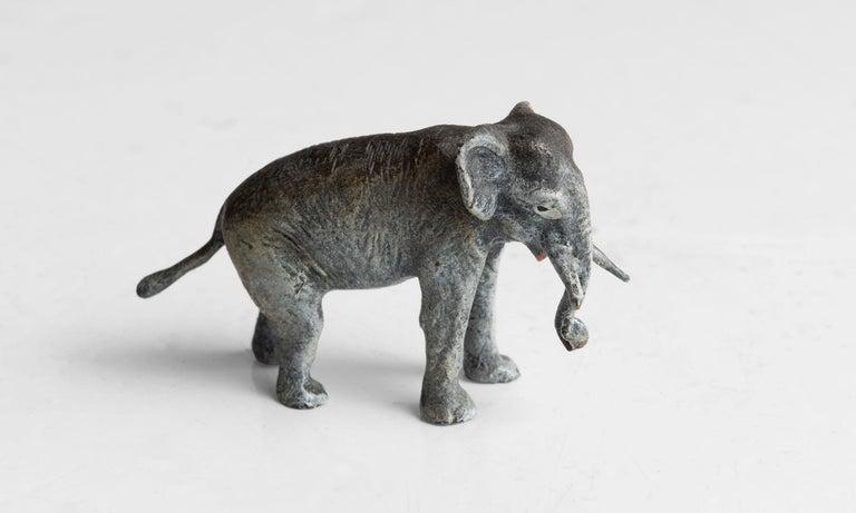 Austrian Miniature Cold Painted / Enameled Bronze Elephant
