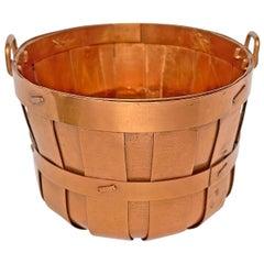 Miniature Copper Apple Basket