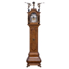 Miniature Dutch Walnut Long Case Clock