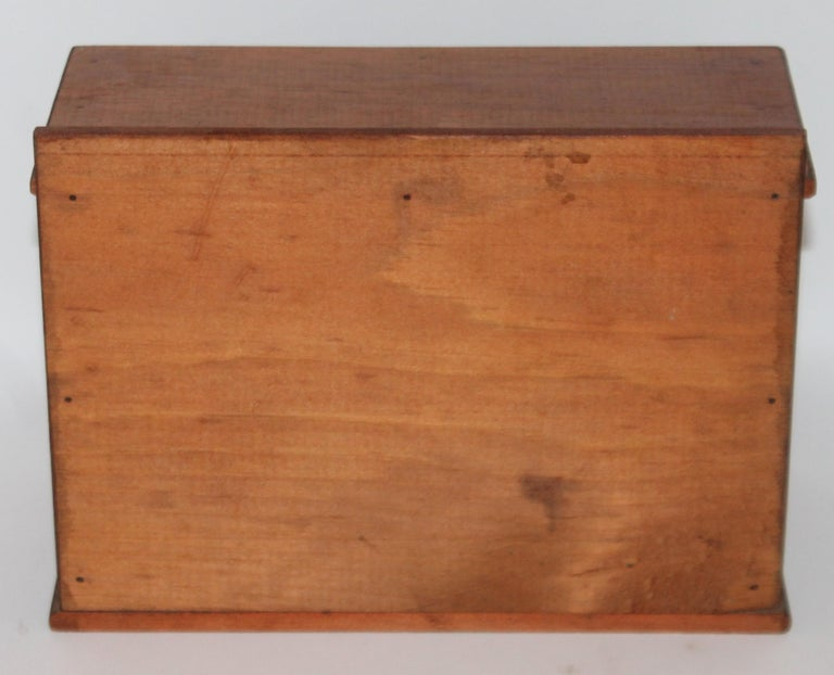 Miniature Early Spice Box with Original Stencil Drawers In Good Condition For Sale In Los Angeles, CA