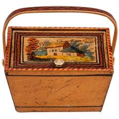 Miniature Early Tunbridge Ware Sewing Box