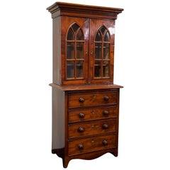 Miniature Example Mahogany Bureau Bookcase