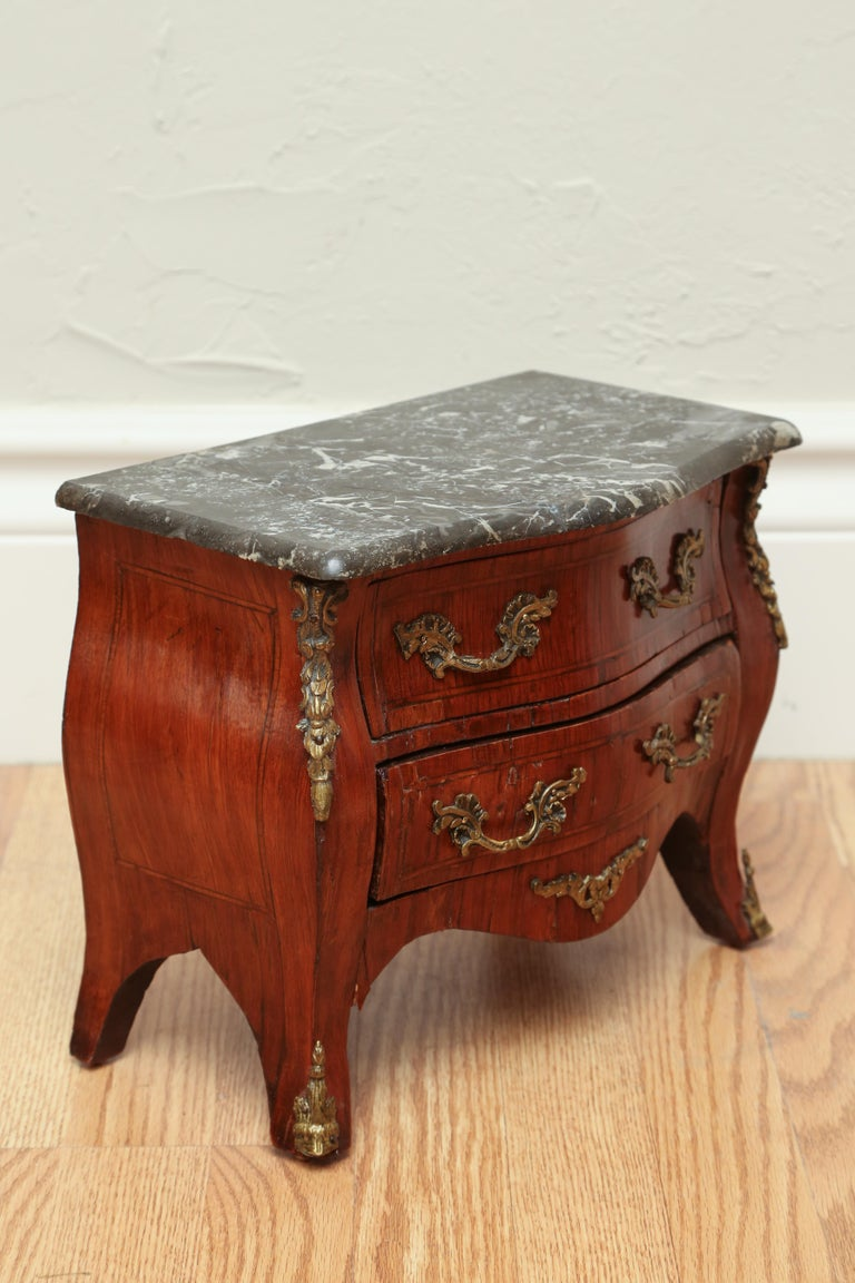 Louis XV Miniature French Marble-Top Commode For Sale