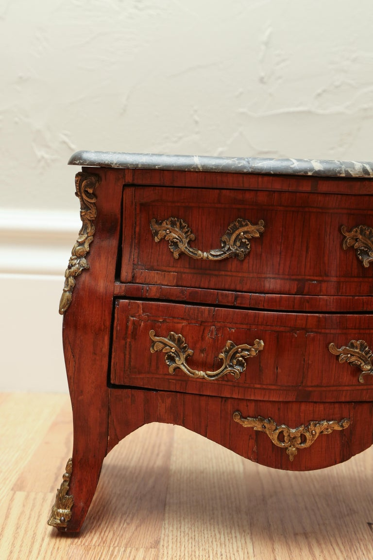 19th Century Miniature French Marble-Top Commode For Sale