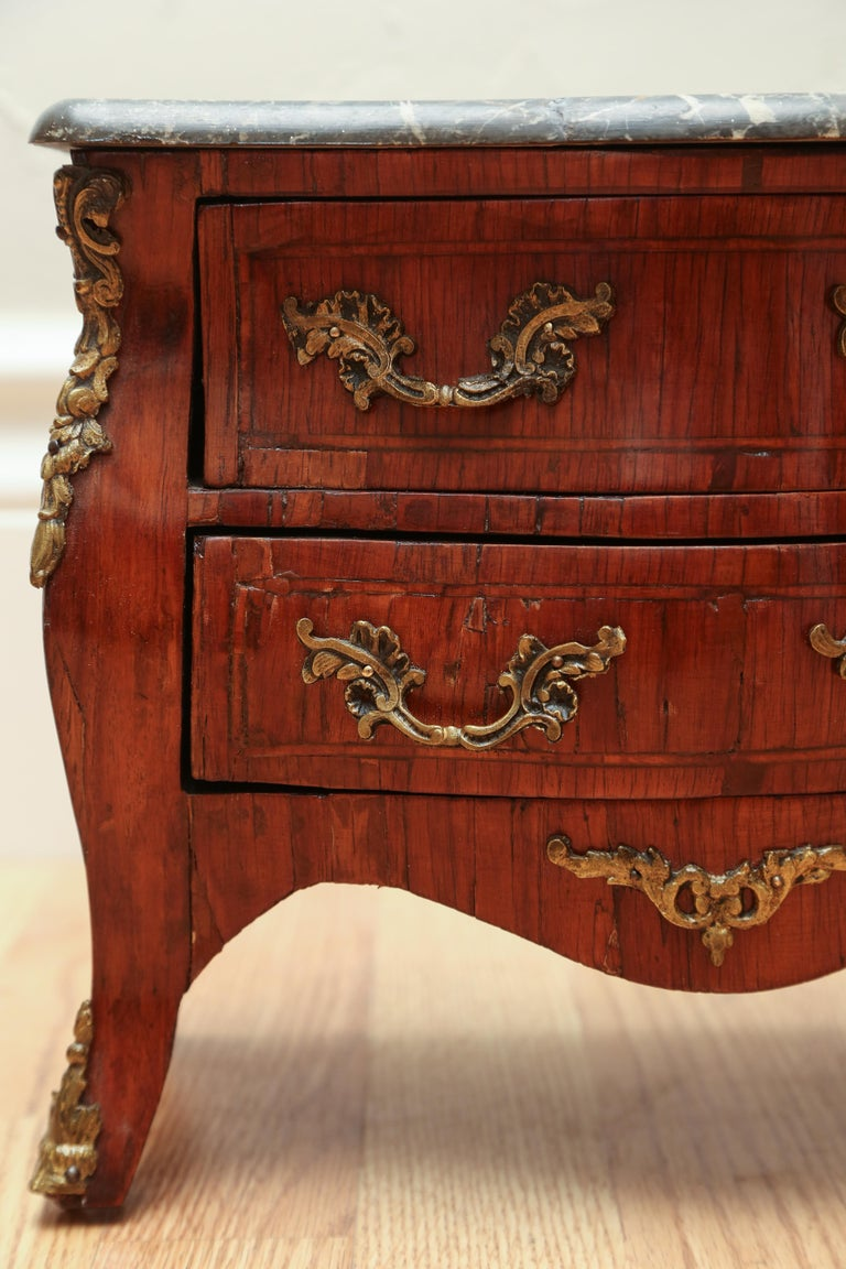 Miniature French Marble-Top Commode For Sale 1