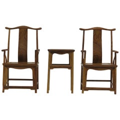 Miniature Huanghuali Chinese Chair and Table set