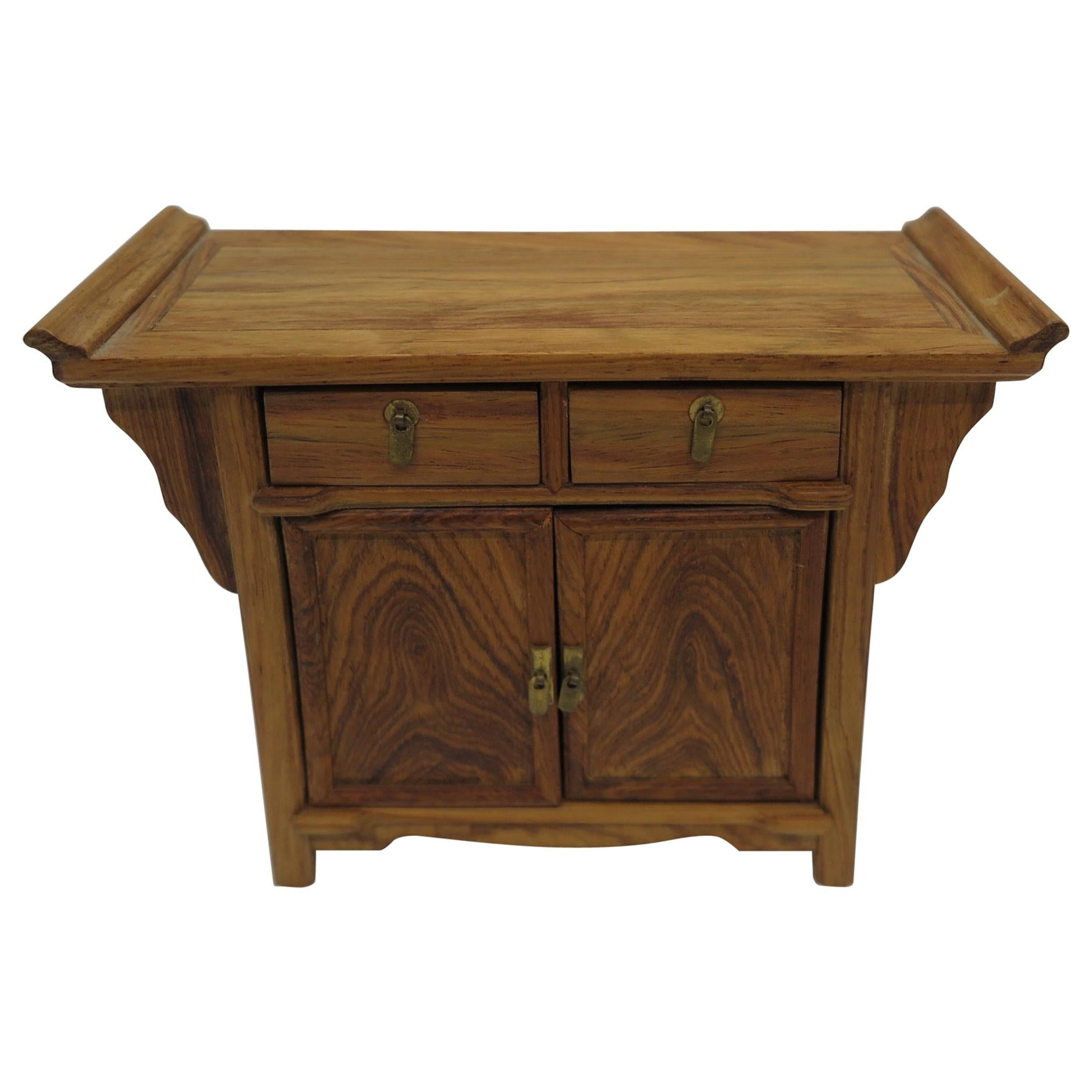 Miniature Huanghuali Wood Chinese Sideboard