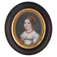 Miniature Jean-Baptiste Couvelet, French, 1772-1830