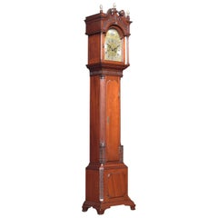 Miniature Mahogany Cased Grandfather Clock