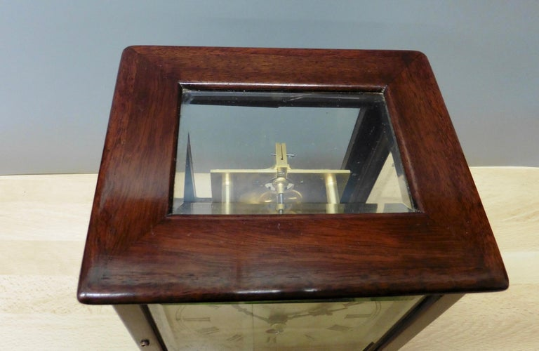 Miniature Mahogany Library Clock, Thornhill, London For Sale 4
