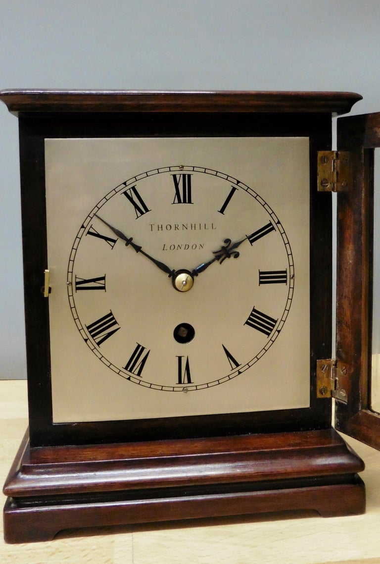 Victorian Miniature Mahogany Library Clock, Thornhill, London For Sale