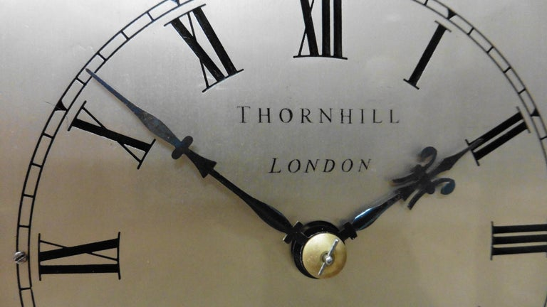 German Miniature Mahogany Library Clock, Thornhill, London For Sale