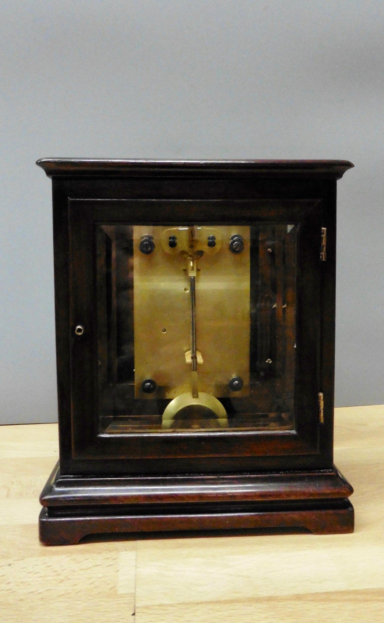 19th Century Miniature Mahogany Library Clock, Thornhill, London For Sale