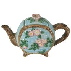 Miniature Majolica Teapot, English, circa 1920
