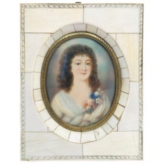 "Miniature portrait of a ""Beautiful Young Lady"""