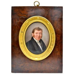 Miniature Portrait of a French Gentleman Dated 1825