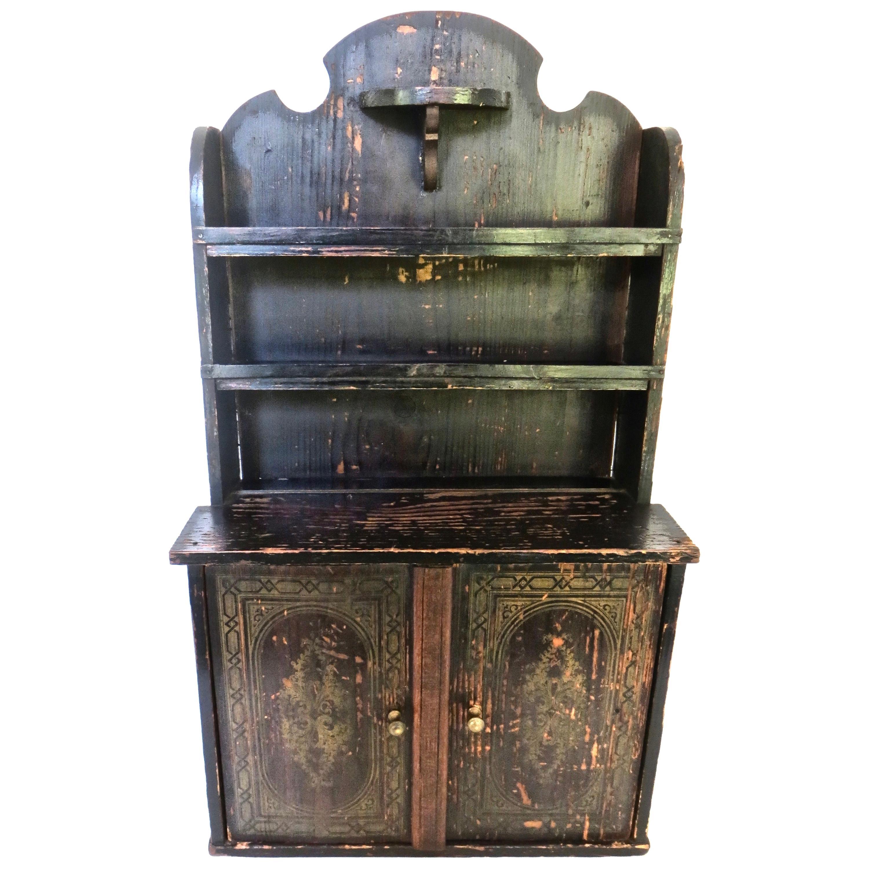 Miniature Salesman's Sample Cottage Kitchen Cupboard American, Circa 1860
