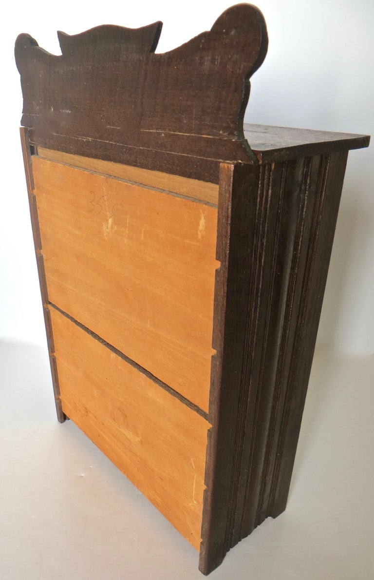 Wood Miniature Salesman's Sample Victorian Chest of Drawers, American For Sale