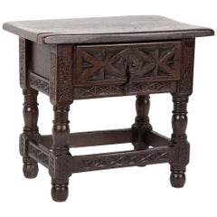 Miniature Spanish Baroque Walnut Table