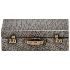 Miniature Sterling Silver Suitcase Box by Karel Bartosik, Hallmarked London 1983