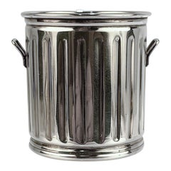 Miniature Sterling Silver Trash Can Form Tooth Pick or Cocktail Spear Holder
