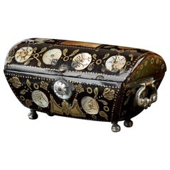 Miniature Tortoiseshell Casket in the Shape of a Cassone, circa 1650