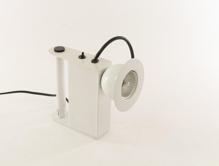 Mid-Century Modern Minibox Table Lamp by Gae Aulenti & Piero Castiglioni for Stilnovo, 1980s For Sale