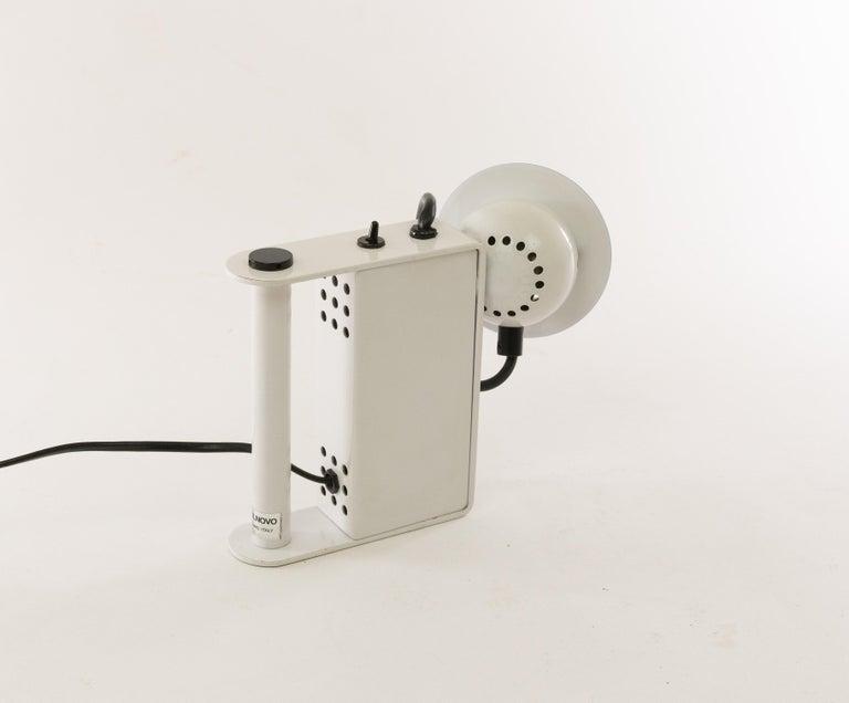 Lacquered Minibox Table Lamp by Gae Aulenti & Piero Castiglioni for Stilnovo, 1980s For Sale