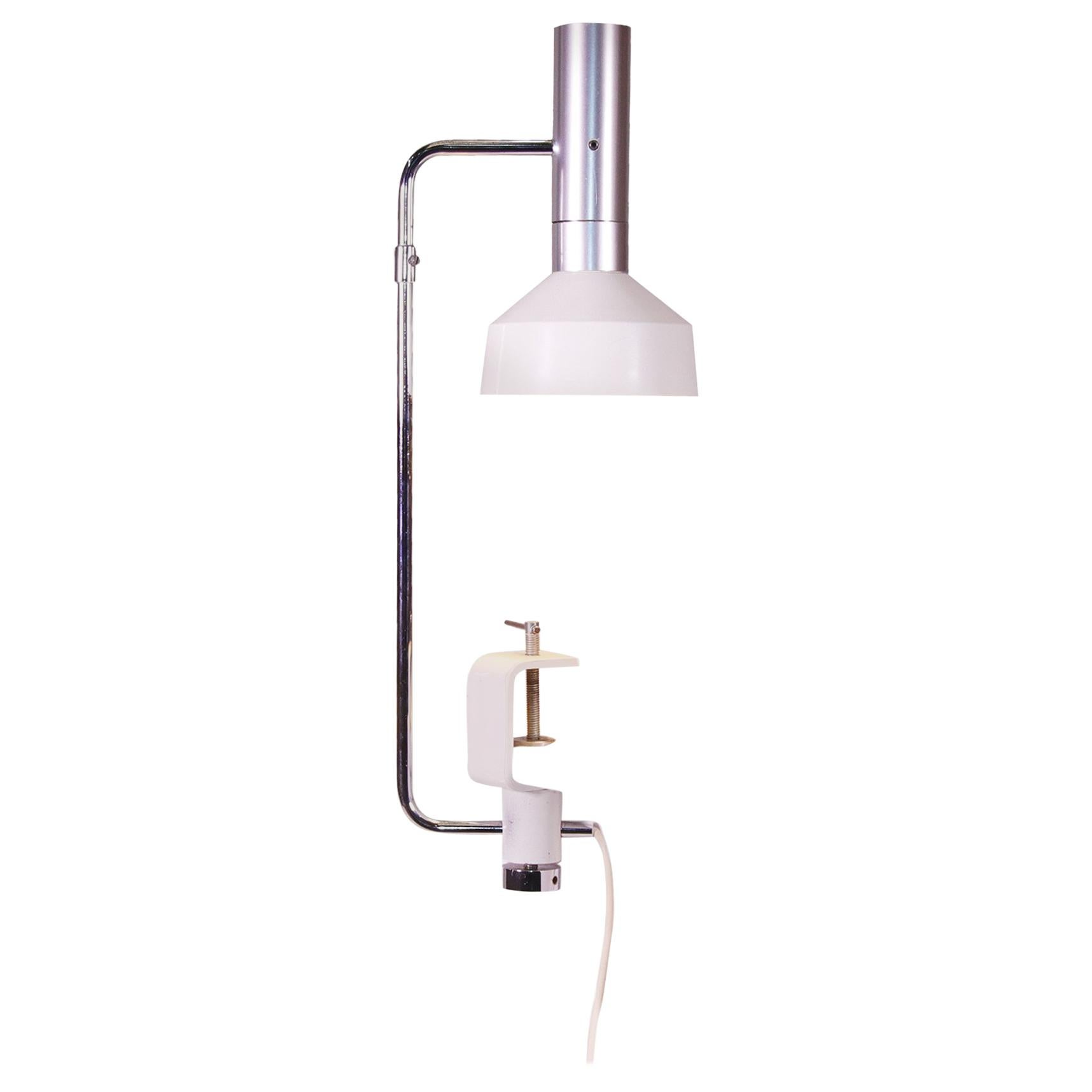 Minilux Desk Clamp Lamp by Rico Baltensweiler, Swiss Made, 1960s