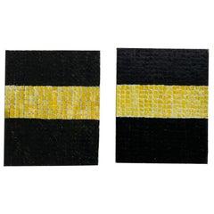 "Minimal Abstract Paintings ""Black & Yellow"" by Bill Kuypers, Antwerp, Belgium"
