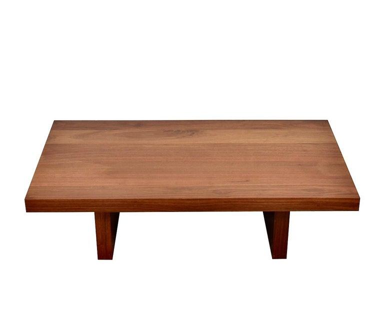 American Minimal Claro Walnut Coffee Table, Organic Modern Handmade, Hudson Furniture NYC For Sale