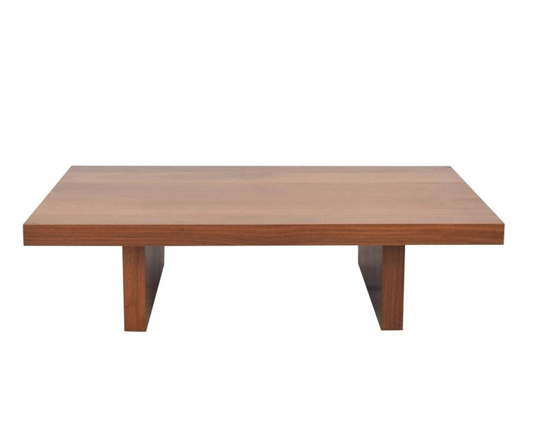 Oiled Minimal Claro Walnut Coffee Table, Organic Modern Handmade, Hudson Furniture NYC For Sale