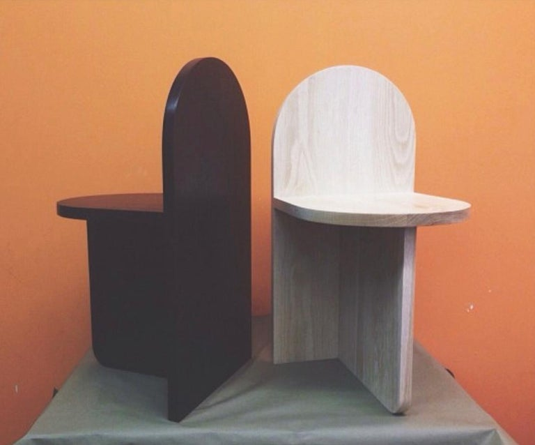 Hand-Crafted Minimal, Contemporary Stone Tombstone Chair by Fort Standard For Sale