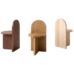 Minimal, Contemporary Wood Tombstone Side Chair by Fort Standard, in Stock