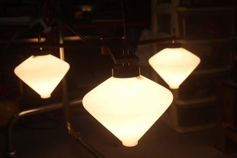 Minimal Design Esperia Chandelier 1960 Made in Italy For Sale 4