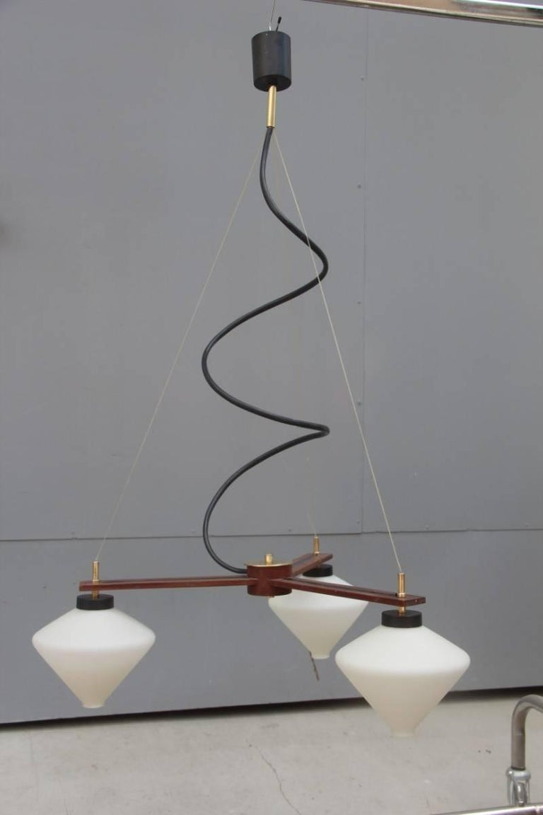Mid-20th Century Minimal Design Esperia Chandelier 1960 Made in Italy For Sale