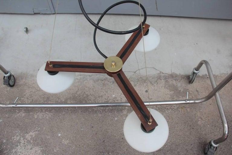 Minimal Design Esperia Chandelier 1960 Made in Italy For Sale 1