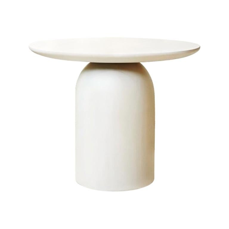 Minimal Hand-built Blond Wood Egg Side Table by Wende Reid For Sale