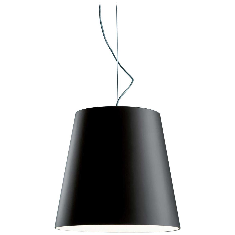 Minimal Modern Fontana Arte Amax Suspension Pendant Black Charles Williams 2004