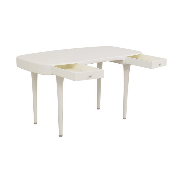 Post-Modern Minimal Modern White Riga Desk Marc Newson for Cappellini Writing Console, 1995 For Sale