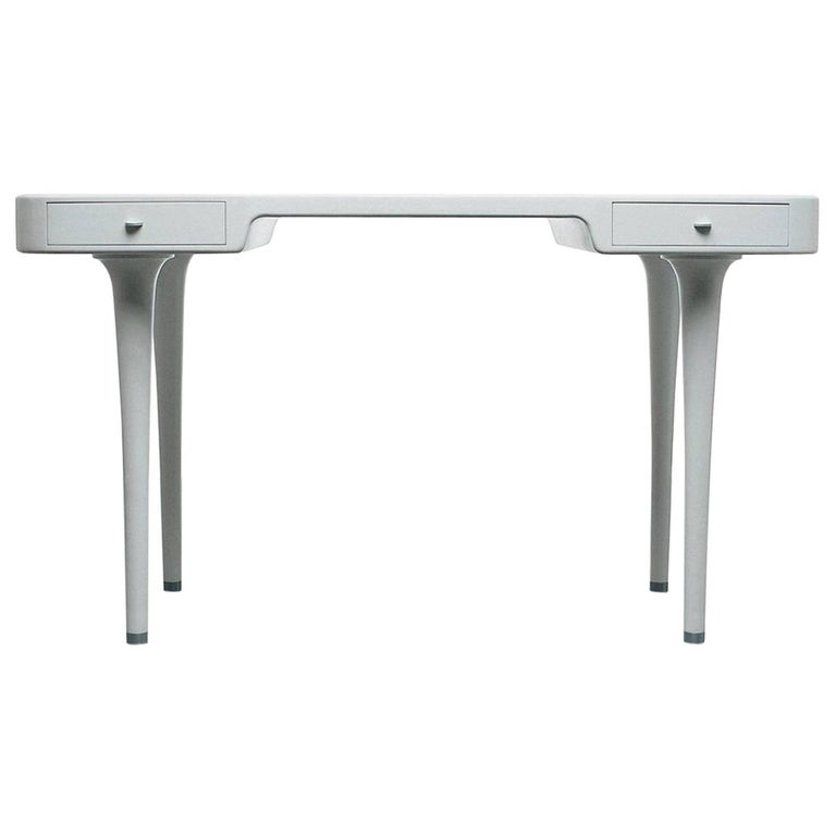 Minimal Modern White Riga Desk Marc Newson for Cappellini Writing Console, 1995 For Sale